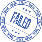Failed — Stock Vector