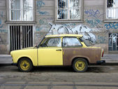 Trabant in Budapest — Stock Photo