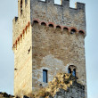 The tower of the castle of Staggia — Stock Photo