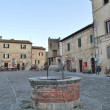 Hell in the main square of Monteriggioni — Stock Photo