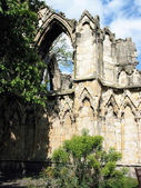 The ruins of Norman Cathedral, in York — Stock Photo