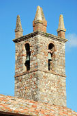 The city of Monteriggioni, bell tower — Stock Photo