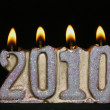 Royalty-Free Stock Photo: Candle new year 2010