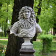 Stock Photo: Old bust in summer garden
