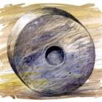 Stone ancient wheel — Stock Photo