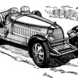 Open sport car, thirties — Photo