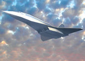 Supersonic airliner — Stock Photo