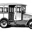 Stock Photo: Antique autobus