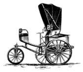 Ancient three-wheeled car — Stock Photo