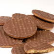 Chocolate biscuits — Stock Photo