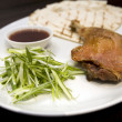 Crispy duck leg — Stock Photo
