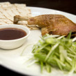 Crispy duck leg - Stok fotoraf