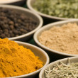 Various spice bowls — Stock Photo