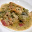 Malaysian prawn green curry — Stock Photo