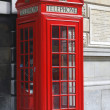 Stock Photo: Red Telephone box