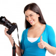Young Lady Photographer — Stock Photo