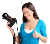 Young Lady Photographer — Stock fotografie