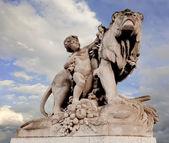 Parigi, Francia, statua di ponte — Foto Stock