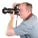 Male Photographer Shooting Something — Stock Photo