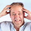 Man Suffering from a Headache — Stock Photo