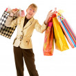 Royalty-Free Stock Photo: Senior Woman on a Shopping Spree
