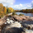 Cascading River and Fall Colors — Stock Photo