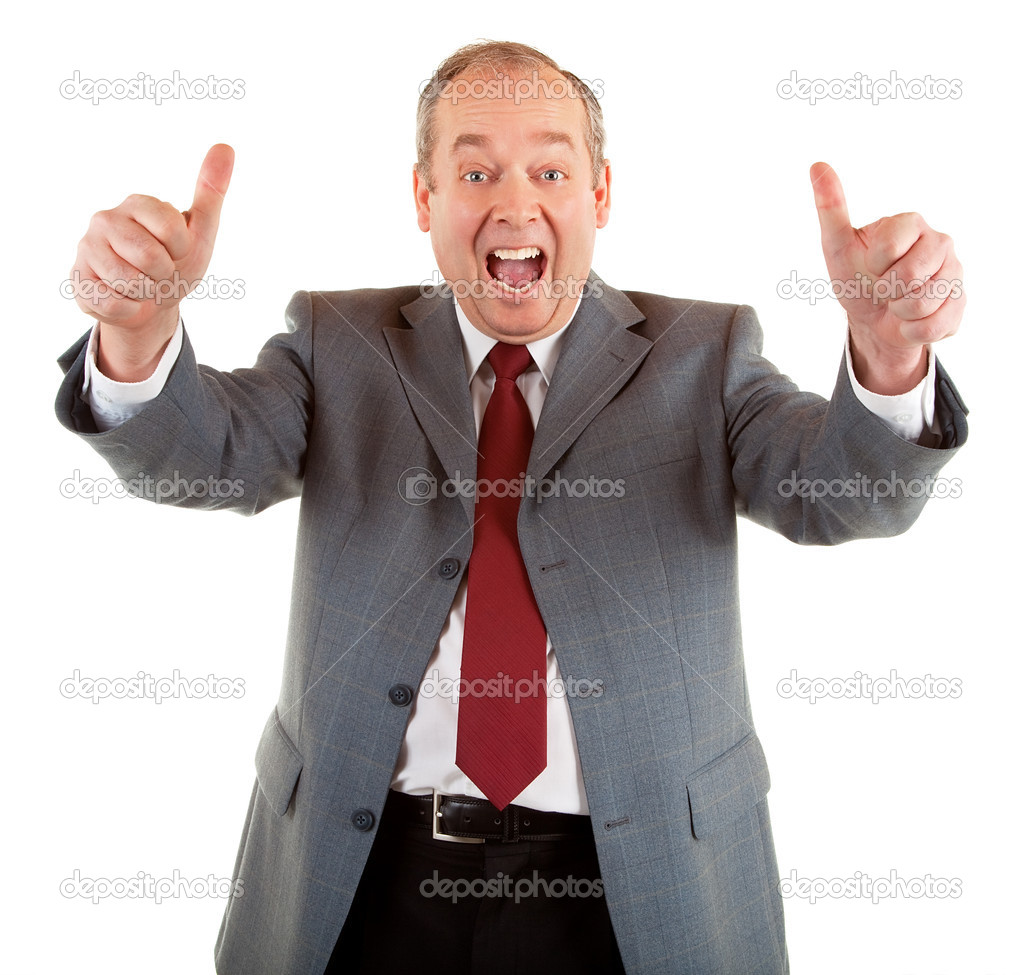 A businessman is showing his appreciation towards a job very well done. — Stock Photo #2028771