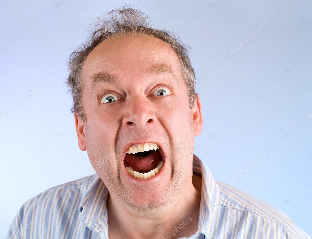 Man Screaming about Something — Stock Photo © cybernesco ...