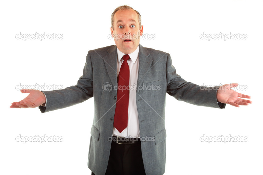 A man is clueless or perplexed about something.  Stock Photo #2028872