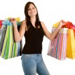Young Woman on a Shopping Spree — Stock Photo #2031166