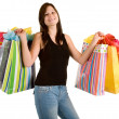 Young Womon Shopping Spree — Stock Photo #2031166