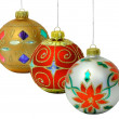 Three Christmas Balls — 图库照片