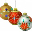 Three Christmas Balls — Stockfoto