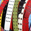 Multicolored women&#039;s belts - Stock Photo