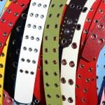 Multicolored women's belts — Stock Photo