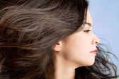 Hair in a Swirling Wind — Stock Photo