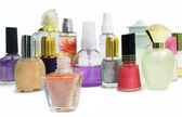 Nail Polishes and Perfumes — Stock Photo