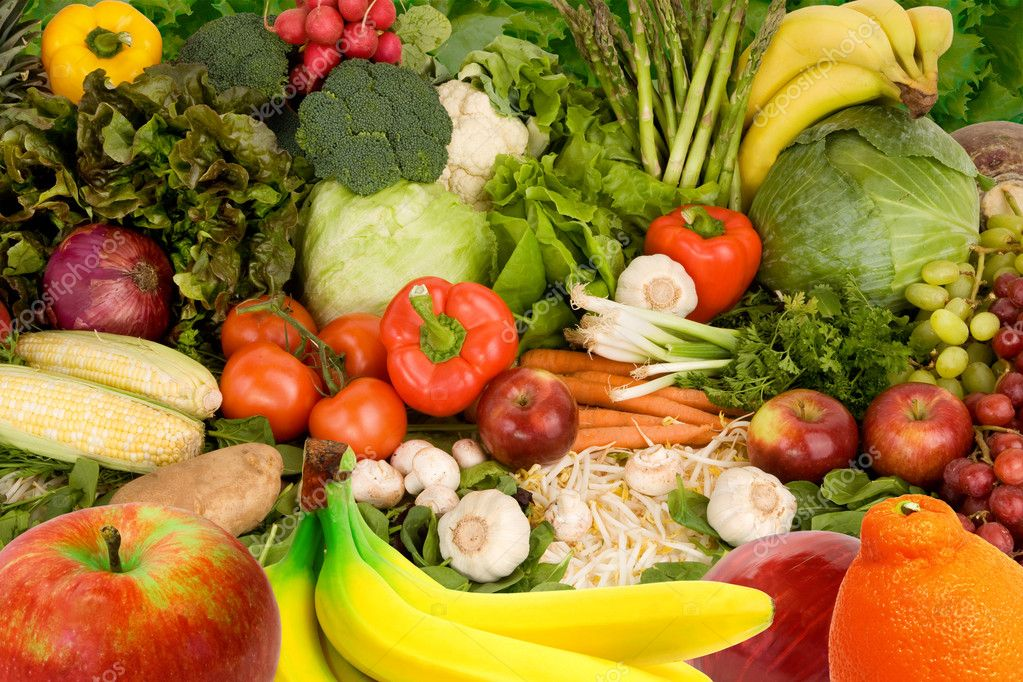 Colorful Fruits and Vegetables � Stock Photo � cybernesco #2261851