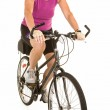 Fit Senior Woman Riding a Bicycle — Stock Photo #2270270