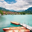 Rowboats on Lake Brienz — Stock Photo