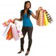 africká americká žena, nakupování — Stock fotografie