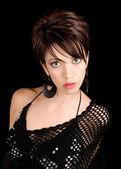 Beautiful Lady Posing in a Black Dress — Stock Photo