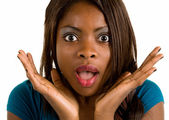 Surprised African American Woman — Stock Photo