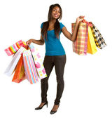 African American Woman Shopping — Stock Photo