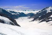 Aletsch Glacier in the Alps — Stock Photo