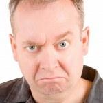 Grumpy Middle Aged Man — Stock Photo