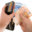 Royalty-Free Stock Photo: Paying Cash with Euro Currency