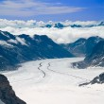 Aletsch glaciar en los Alpes, Suiza — Foto de Stock