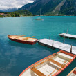 Rowboats on Lake Brienz, Switzerland — Stock Photo