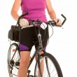 Fit Senior Woman Riding a Bicycle — Stock Photo